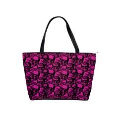 Skulls Pattern  Shoulder Handbags by Valentinaart