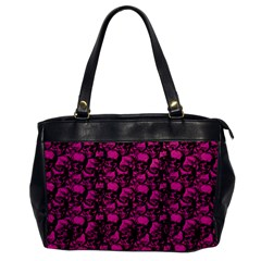 Skulls Pattern  Office Handbags by Valentinaart