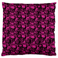 Skulls Pattern  Large Flano Cushion Case (two Sides) by Valentinaart