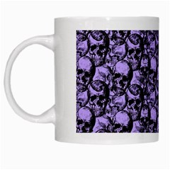 Skulls Pattern  White Mugs by Valentinaart