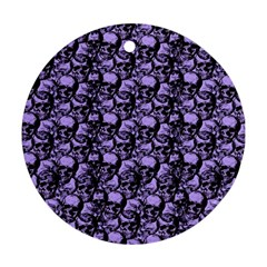 Skulls Pattern  Round Ornament (two Sides) by Valentinaart