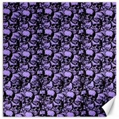 Skulls Pattern  Canvas 12  X 12   by Valentinaart