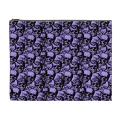 Skulls Pattern  Cosmetic Bag (xl) by Valentinaart