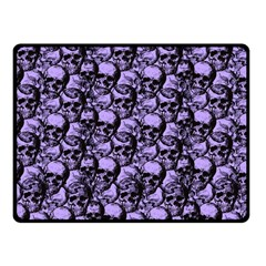 Skulls Pattern  Fleece Blanket (small) by Valentinaart