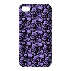 Skulls Pattern  Apple Iphone 4/4s Premium Hardshell Case by Valentinaart
