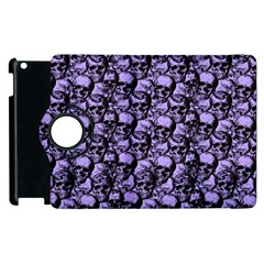 Skulls Pattern  Apple Ipad 3/4 Flip 360 Case by Valentinaart