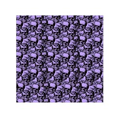 Skulls Pattern  Small Satin Scarf (square) by Valentinaart