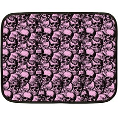 Skulls Pattern  Double Sided Fleece Blanket (mini)  by Valentinaart