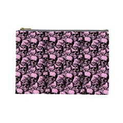 Skulls Pattern  Cosmetic Bag (large)  by Valentinaart