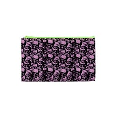 Skulls Pattern  Cosmetic Bag (xs) by Valentinaart