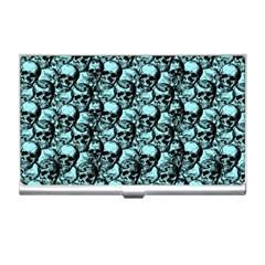 Skulls Pattern  Business Card Holders by Valentinaart