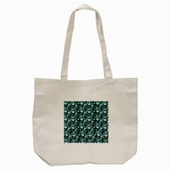 Skulls Pattern  Tote Bag (cream) by Valentinaart