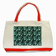 Skulls Pattern  Classic Tote Bag (red) by Valentinaart