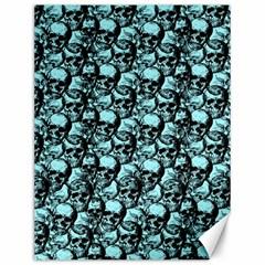 Skulls Pattern  Canvas 12  X 16   by Valentinaart
