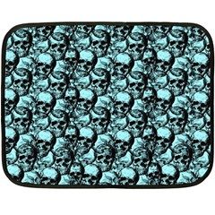Skulls Pattern  Fleece Blanket (mini) by Valentinaart