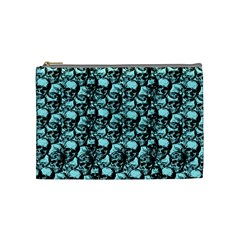 Skulls Pattern  Cosmetic Bag (medium)  by Valentinaart