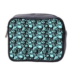 Skulls Pattern  Mini Toiletries Bag 2 Side by Valentinaart