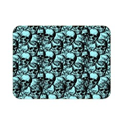 Skulls Pattern  Double Sided Flano Blanket (mini)  by Valentinaart