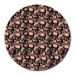 Skulls Pattern  Round Mousepads by Valentinaart