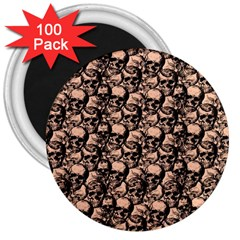 Skulls Pattern  3  Magnets (100 Pack) by Valentinaart