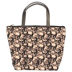 Skulls Pattern  Bucket Bags by Valentinaart