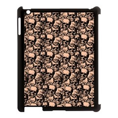 Skulls Pattern  Apple Ipad 3/4 Case (black) by Valentinaart