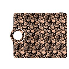 Skulls Pattern  Kindle Fire Hdx 8 9  Flip 360 Case by Valentinaart