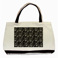 Skulls Pattern  Basic Tote Bag (two Sides) by Valentinaart