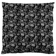 Skulls Pattern  Large Cushion Case (two Sides) by Valentinaart