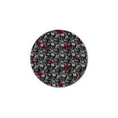 Skulls And Roses Pattern  Golf Ball Marker (4 Pack) by Valentinaart