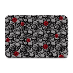 Skulls And Roses Pattern  Plate Mats by Valentinaart