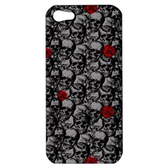 Skulls And Roses Pattern  Apple Iphone 5 Hardshell Case by Valentinaart