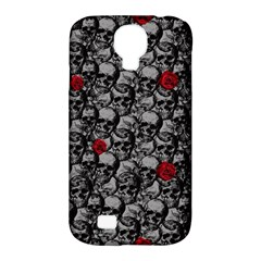 Skulls And Roses Pattern  Samsung Galaxy S4 Classic Hardshell Case (pc+silicone) by Valentinaart
