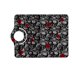 Skulls And Roses Pattern  Kindle Fire Hd (2013) Flip 360 Case by Valentinaart