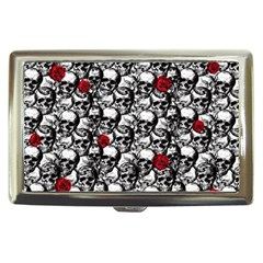 Skulls And Roses Pattern  Cigarette Money Cases by Valentinaart