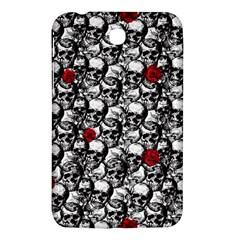 Skulls And Roses Pattern  Samsung Galaxy Tab 3 (7 ) P3200 Hardshell Case  by Valentinaart