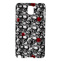 Skulls And Roses Pattern  Samsung Galaxy Note 3 N9005 Hardshell Case by Valentinaart
