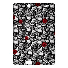 Skulls And Roses Pattern  Amazon Kindle Fire Hd (2013) Hardshell Case by Valentinaart