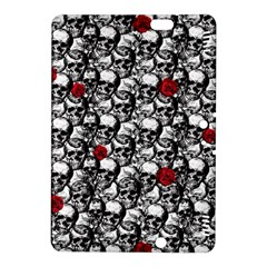 Skulls And Roses Pattern  Kindle Fire Hdx 8 9  Hardshell Case by Valentinaart