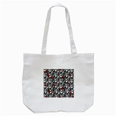 Skulls And Roses Pattern  Tote Bag (white) by Valentinaart