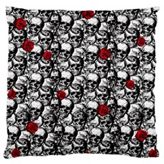 Skulls And Roses Pattern  Standard Flano Cushion Case (two Sides) by Valentinaart