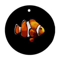 Clown Fish Ornament (round) by Valentinaart
