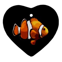 Clown Fish Heart Ornament (two Sides) by Valentinaart