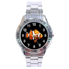Clown Fish Stainless Steel Analogue Watch by Valentinaart