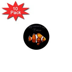 Clown Fish 1  Mini Buttons (10 Pack)  by Valentinaart