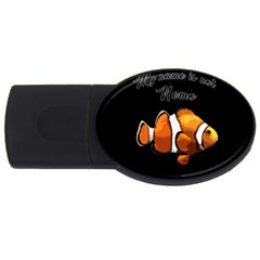 Clown Fish Usb Flash Drive Oval (4 Gb) by Valentinaart