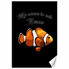 Clown Fish Canvas 12  X 18   by Valentinaart