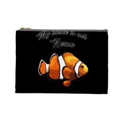 Clown Fish Cosmetic Bag (large)  by Valentinaart