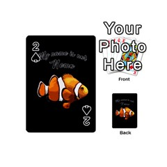 Clown Fish Playing Cards 54 (mini)  by Valentinaart