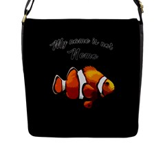 Clown Fish Flap Messenger Bag (l)  by Valentinaart